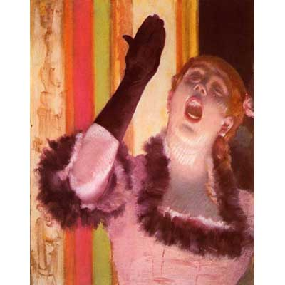 The Museum Outlet The Singer With The Glove By Degas - Wall Art Print