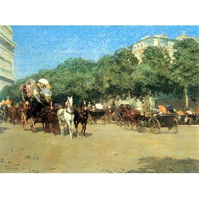 The Museum Outlet The Day Of The Grand Prize [1] By Hassam - Wall Art Print