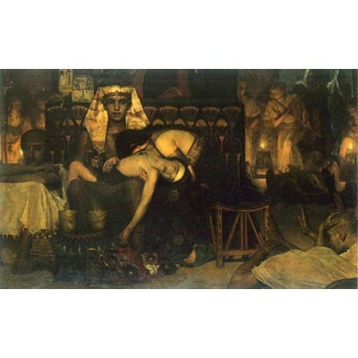 The Museum Outlet The Death Of The First Born By Alma-Tadema - Canvas Print