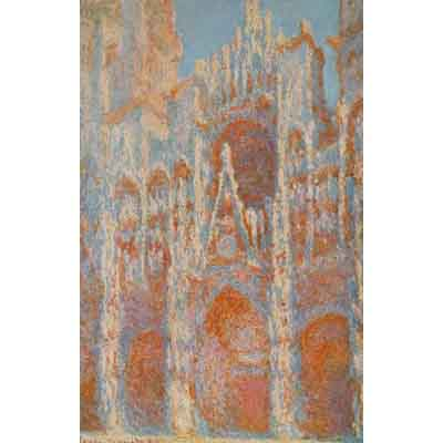 The Museum Outlet The Rouen Cathedral - The Facade At Sunset By Monet - Wall Art