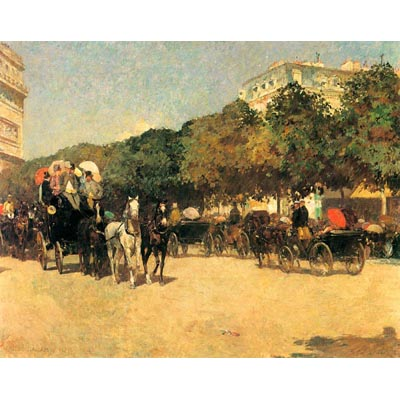 The Museum Outlet The Day Of The Grand Prize [2] By Hassam - Canvas Print