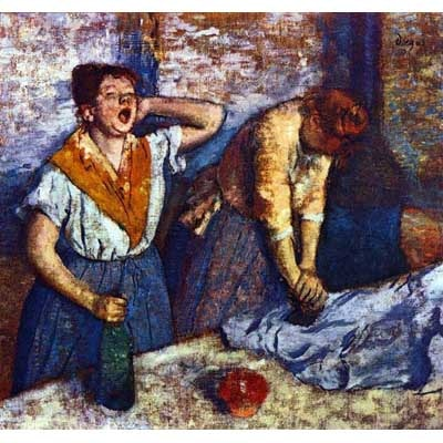 The Museum Outlet Two Cleaning Women By Degas - Fine Art Print