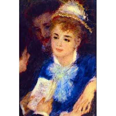 The Museum Outlet The Perusal Of The Part By Renoir - Wall Art Print