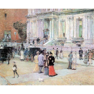 The Museum Outlet The Manhattan Club (The Villa Of The Stewarts) By Hassam - Museum Canvas Print