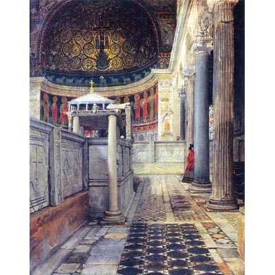 The Museum Outlet The Interior Of The Church Of San Clemente Rome By Alma-Tadema - Wall Art Print