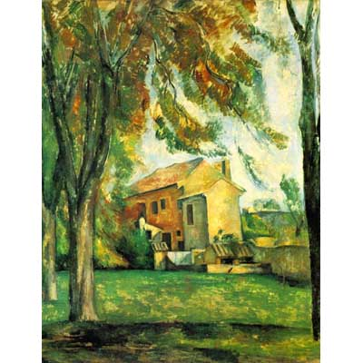 The Museum Outlet The Pond Of The Jas De Bouffan In Winter By Cezanne - Canvas Print