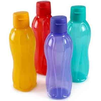 Tupperware 750 Ml Flip Top Water Bottle Set Of 4