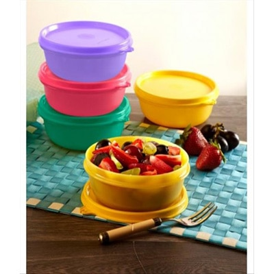 Tupperware Buddy Bowls Plastic Containers 4Pc Tupperware Buddy Bowls