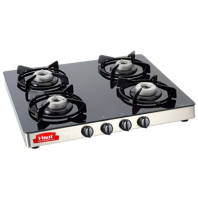 Virat Gas Stove Glass 4 Burner Sparkle