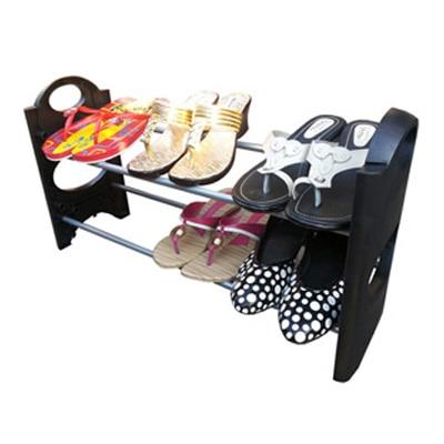 Kawachi Convertible Lightweight 2 Tier Shoe Rack Organiser