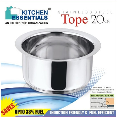 Kitchen Essentials Induction Base Tope 20Cm Cooking Pot 2 Litres