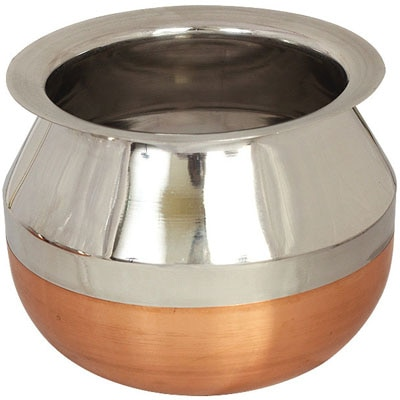 Value Retail Kaveri Copper Bottom Kalash Container Dacchi Handi- 2 Litres
