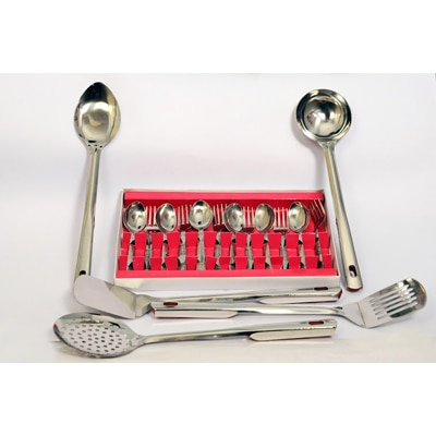 Fancy Centre 12 Pcs Cutlery Set With Free 5 Pcs Kitchen Tool Set