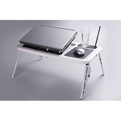 Qubeplex Multi Purpose E-Table With Usb Cooling Fan