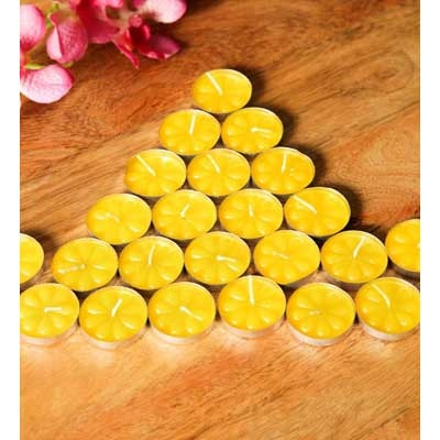 Blackberry Overseas Set Of 25 T-Lights Yellow Color