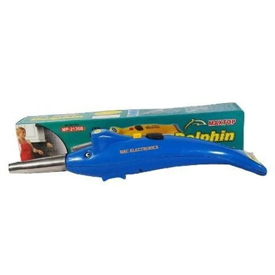Dolphin 2 In 1 Kitchen Dolphin Shape Electronic Gas Lighter With Led Torch 1Pcs