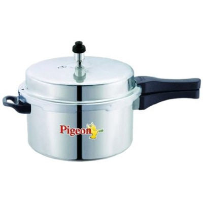 Pigeon Calida Induction Base Aluminium Pressure Cooker With Outer Lid- 3 Litres