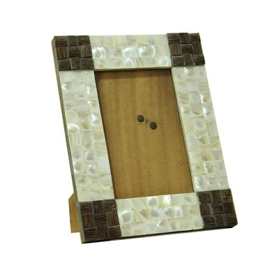 KKD Photo Frame Of White Mother Of Pearl And TaadiWood