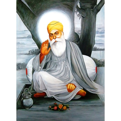 J J Studios Painting Of Guru Nanak Painting