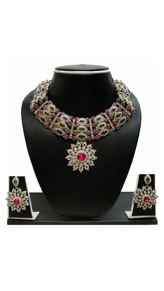 Zaveri Pearls Multi Necklace Set