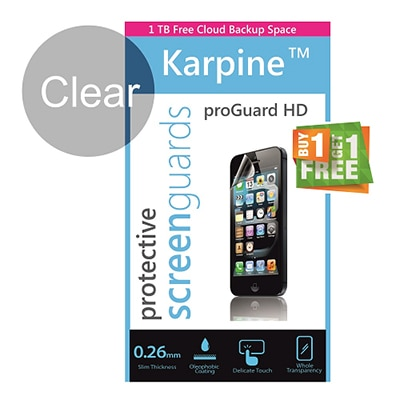 Karpine Clear Screen Guard For Samsung Star Duos B7722 (Buy 1 Get 1 Free)