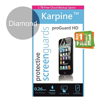 Karpine Diamond Screen Guard For Samsung Star Duos B7722 (Buy 1 Get 1 Free)