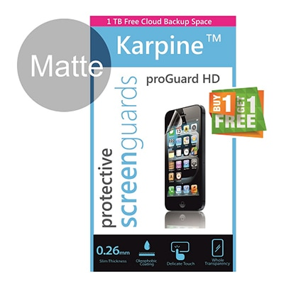 Karpine Matte Screen Guard For Samsung Star Duos B7722 (Buy 1 Get 1 Free)