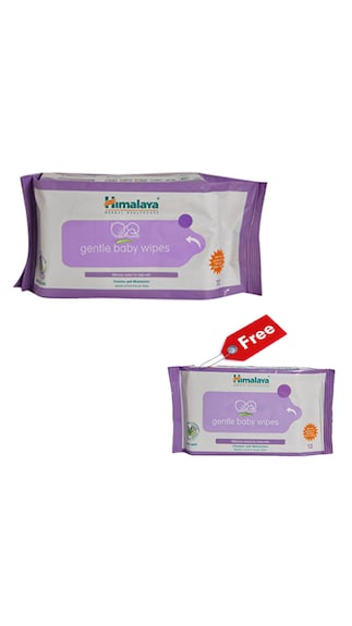 Himalaya Baby Wipes (72Pieces) With Free Himalaya Baby Wipes (12 Pieces)