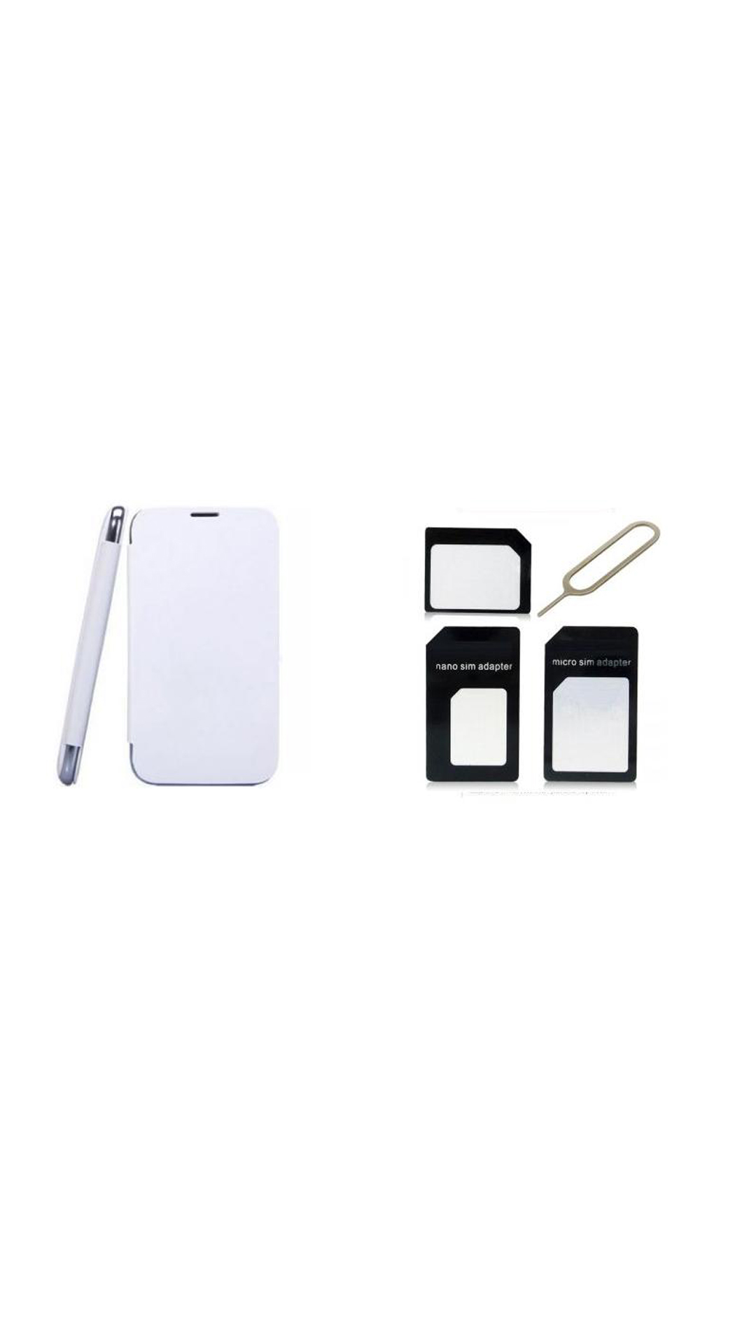 Ks Flip Cover and Sim Adaptor Kit of Samsung Galaxy Note 2 N7100  White  available at Paytm for Rs.999999999