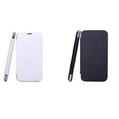 KS Combo Of Black And White Flip Cover For Karbonn A21