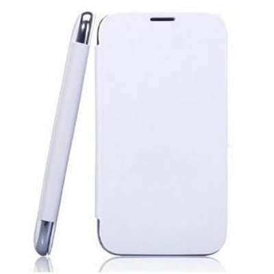 KS Flip Cover For Karbonn A21 (White)