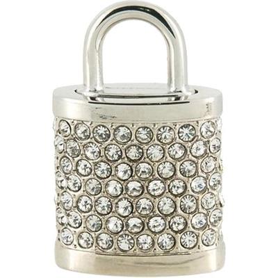 Microware Silver Lock Shape Designer 16GB Pen Drive
