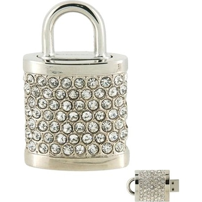 Microware Silver Lock Shape Designer 4GB Pen Drive