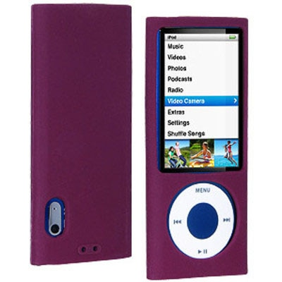 Amzer Back Cover For Apple IPod Nano 5th Gen (Purple)