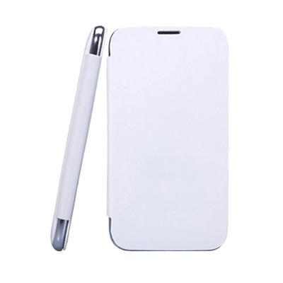 Callmate Flip Cover For Micromax A116 Canvas HD (White) With Screen Guard