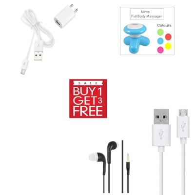Clik Travel Adapter For Intex Aqua Glory (White) (Buy 1 Get 3 More Product Free)