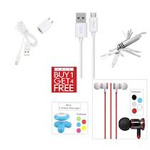 Clik Travel Adapter For Intex Aqua Glory (White) (Buy 1 Get 4 More Product Free)