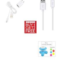 Clik Travel Adapter For Intex Aqua Glory (White) (Buy 1 Get 2 More Product Free)