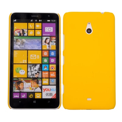 Cubix Ultra Thin Rubberized Matte Hard Back Cover For Nokia Lumia 1320 (Yellow)
