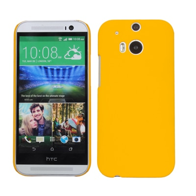 Cubix Ultra Thin Rubberized Matte Hard Back Cover For HTC One (M8) Cdma (Yellow)