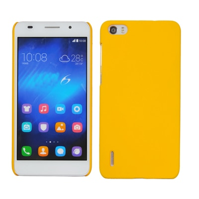Cubix Ultra Thin Rubberized Matte Hard Back Cover For Huawei Honor 6 (Yellow)