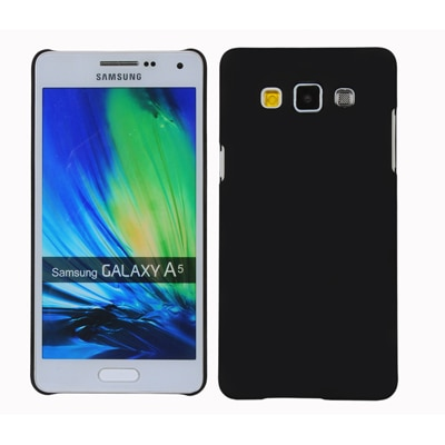 Cubix Ultra Thin Rubberized Matte Hard Back Cover For Samsung Galaxy A5 (Black)