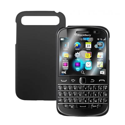 Cubix Ultra Thin Rubberized Matte Hard Back Cover For Blackberry Classic (Black)