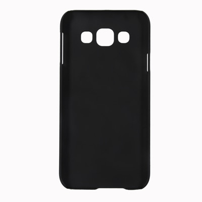 Cubix Ultra Thin Rubberized Matte Hard Back Cover For Samsung Galaxy E5 (Black)