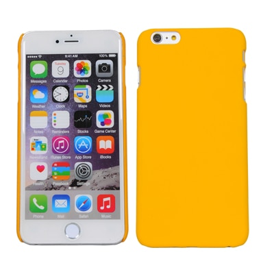 Cubix Ultra Thin Rubberized Matte Hard Back Cover For Apple Iphone 6 Plus (Yellow)