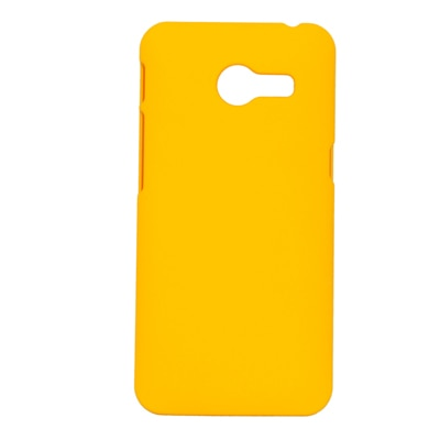 Cubix Ultra Thin Rubberized Matte Hard Back Cover For Asus Zenfone 4 (Yellow)