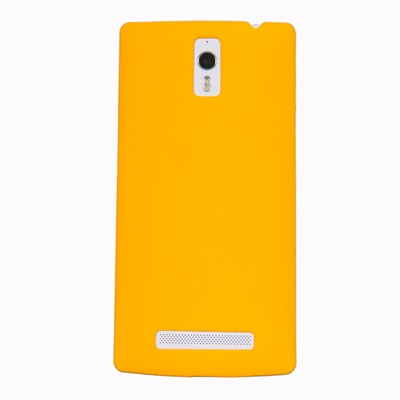 Cubix Ultra Thin Rubberized Matte Hard Back Cover For Oppo Find 7 (Yellow)