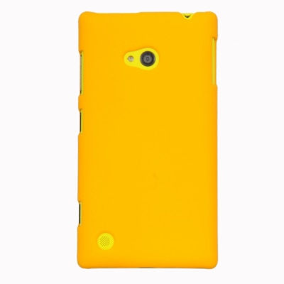 Cubix Ultra Thin Rubberized Matte Hard Back Cover For Nokia Lumia 720 (Yellow)