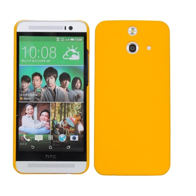 Cubix Ultra Thin Rubberized Matte Hard Back Cover For HTC One E8 (Yellow)