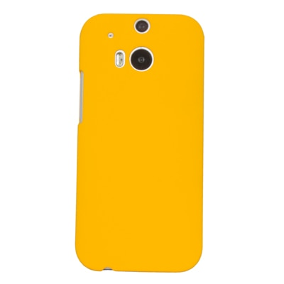 Cubix Ultra Thin Rubberized Matte Hard Back Cover For HTC One (M8) Dual Sim (Yellow)
